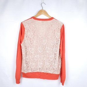 Ann Taylor Knit Laced Back Sweater